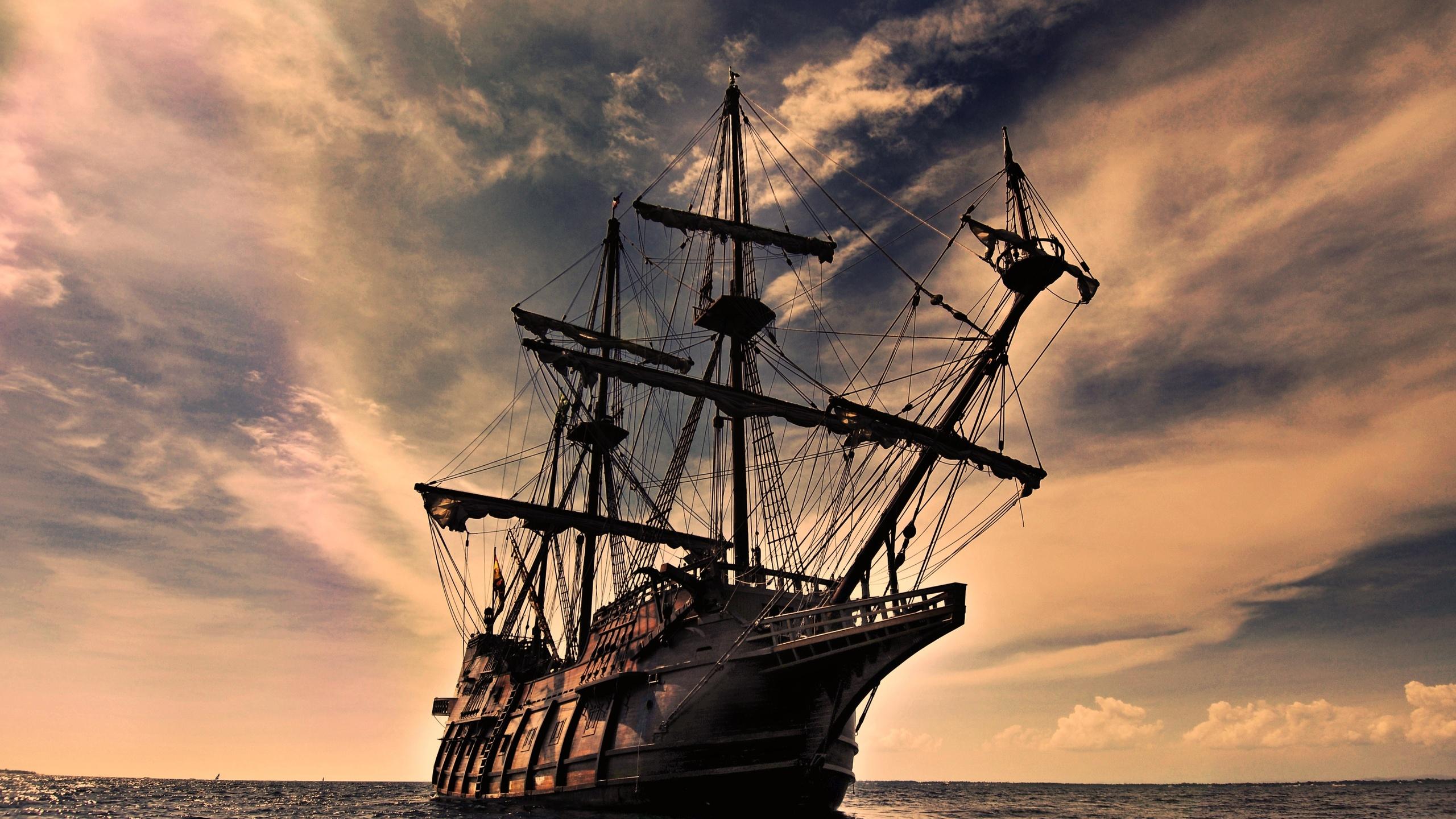 Картинки, парусные корабли на открытке