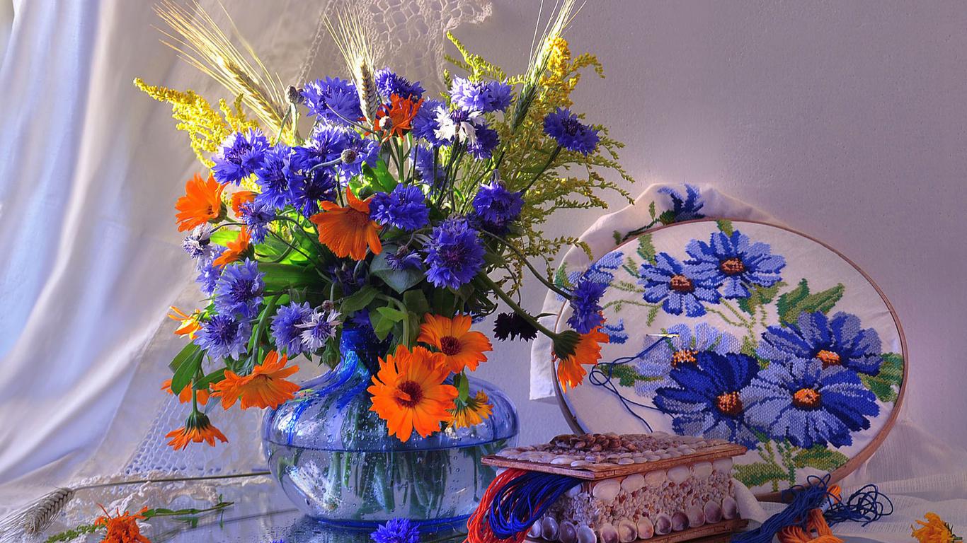 Картинки с полевыми цветами красивые букеты с надписями для тебя