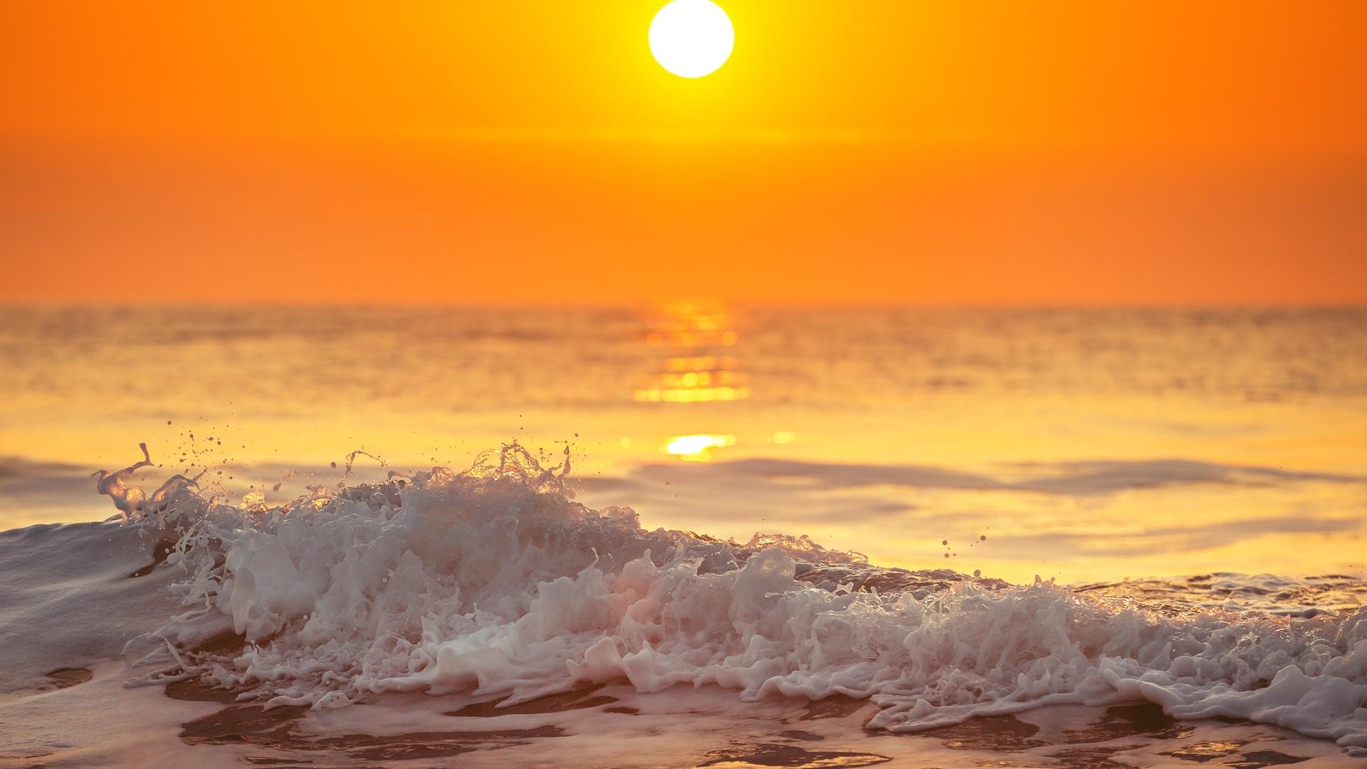 рассвет над морем картинки
