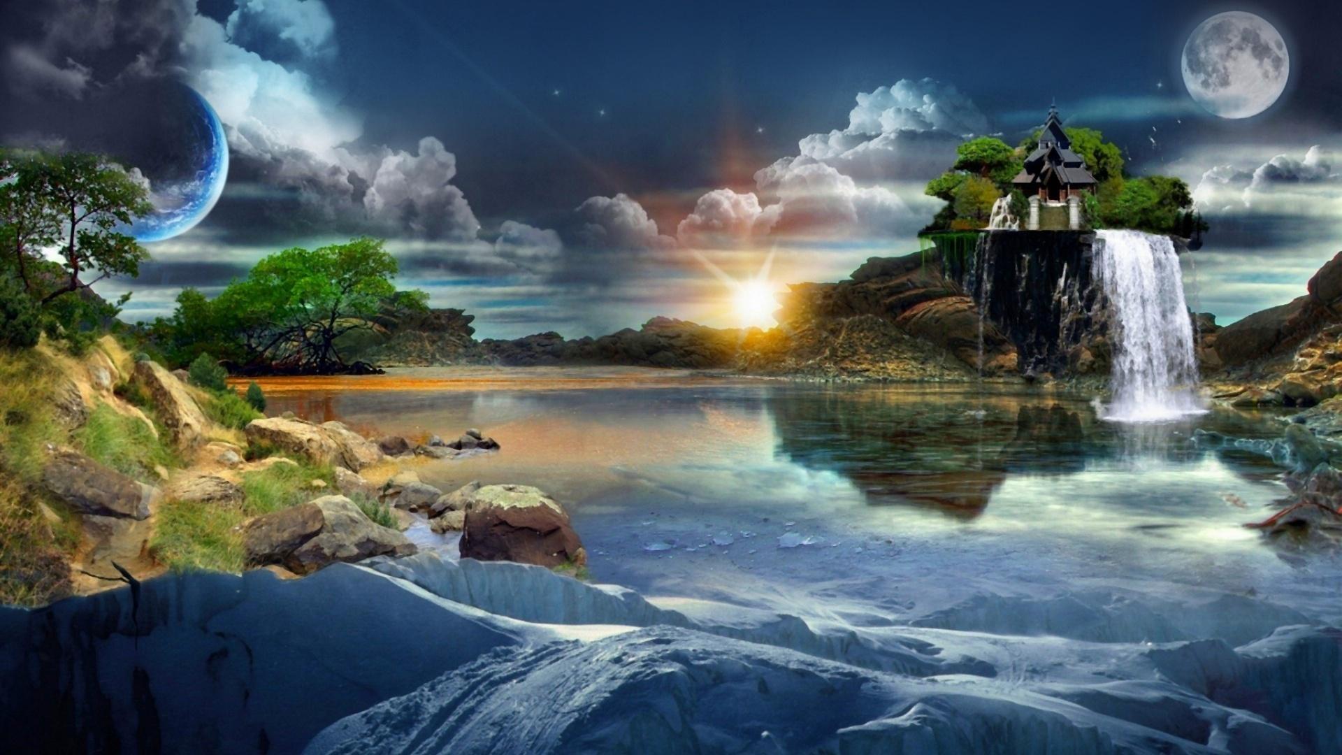 Картинка нереальный пейзаж