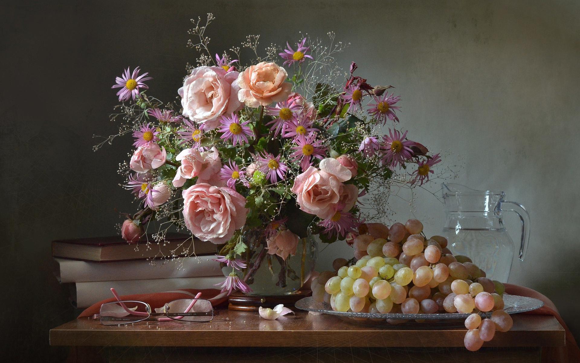 смотреть картинки цветы натюрморт что-то