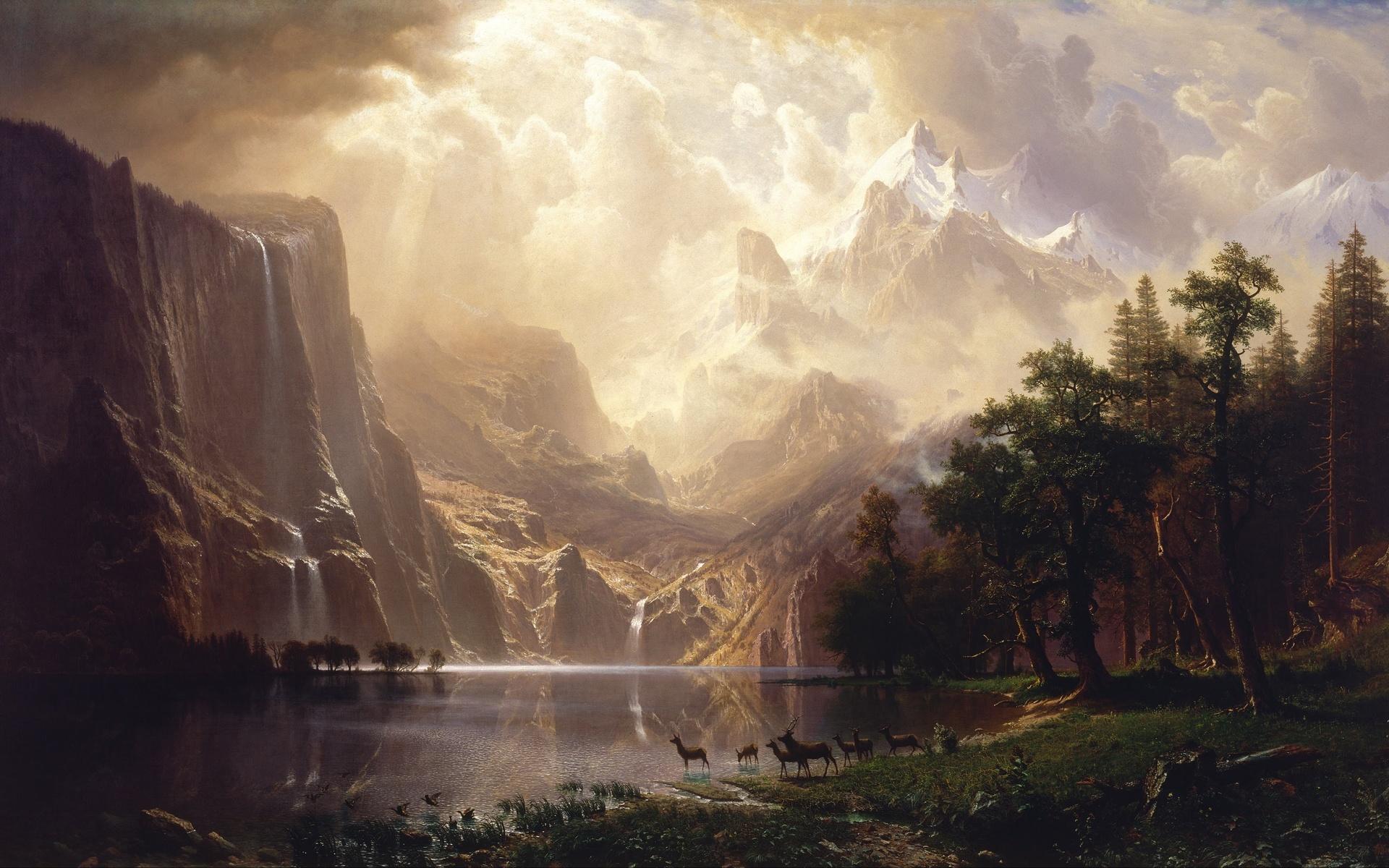 художественный картинка пейзаж немногие