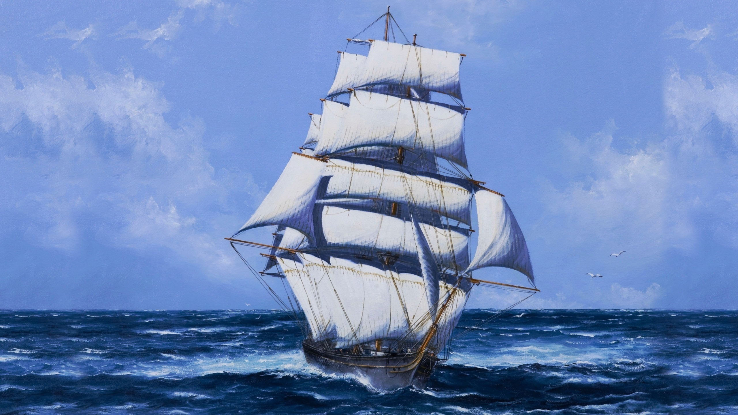 Картинки с видами моря и парусников