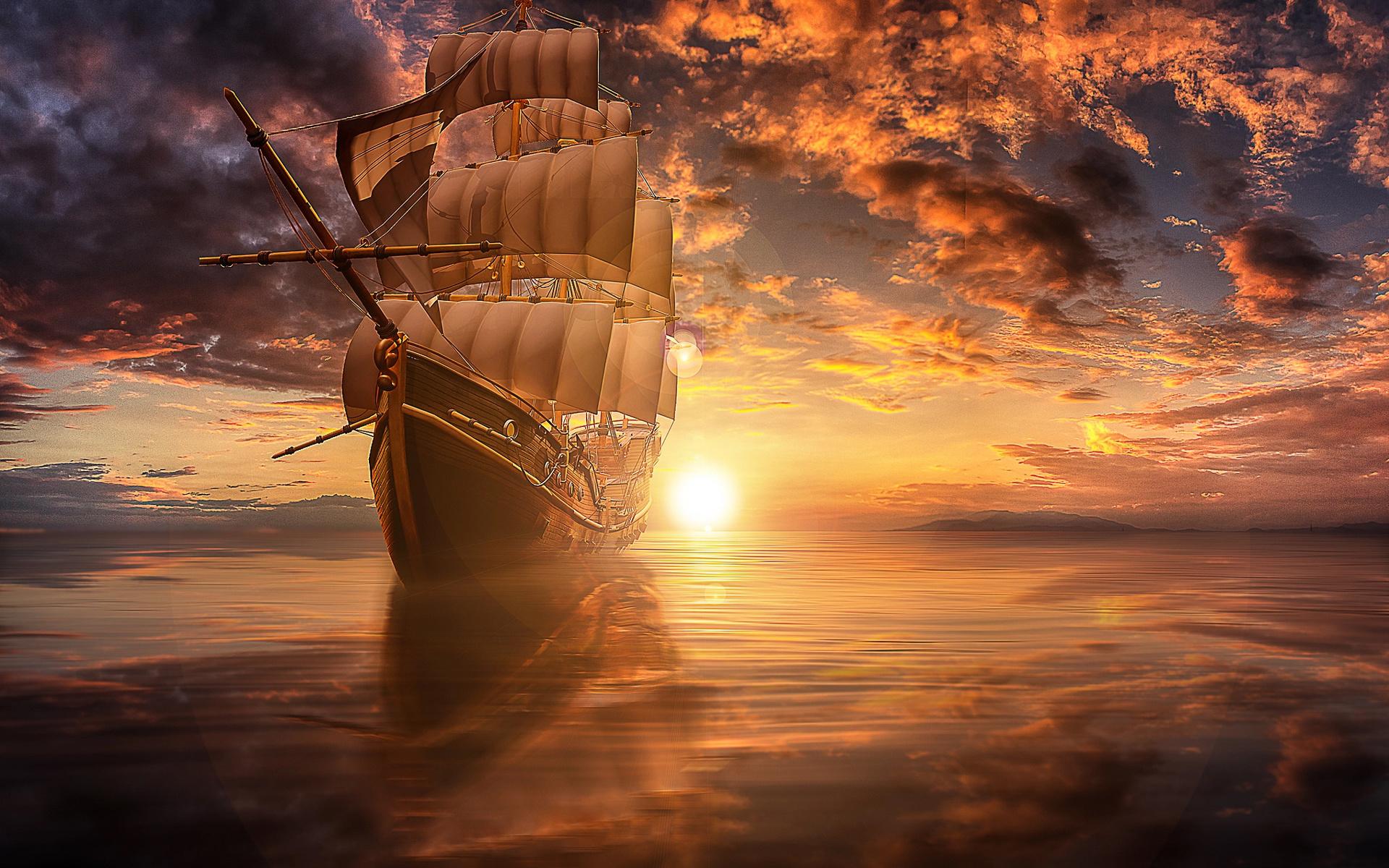 картинки корабля солнце это значит, что