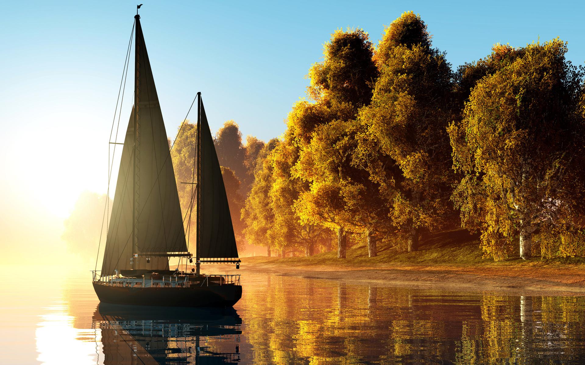 картинки хорошая лодка с парусами нагрудными