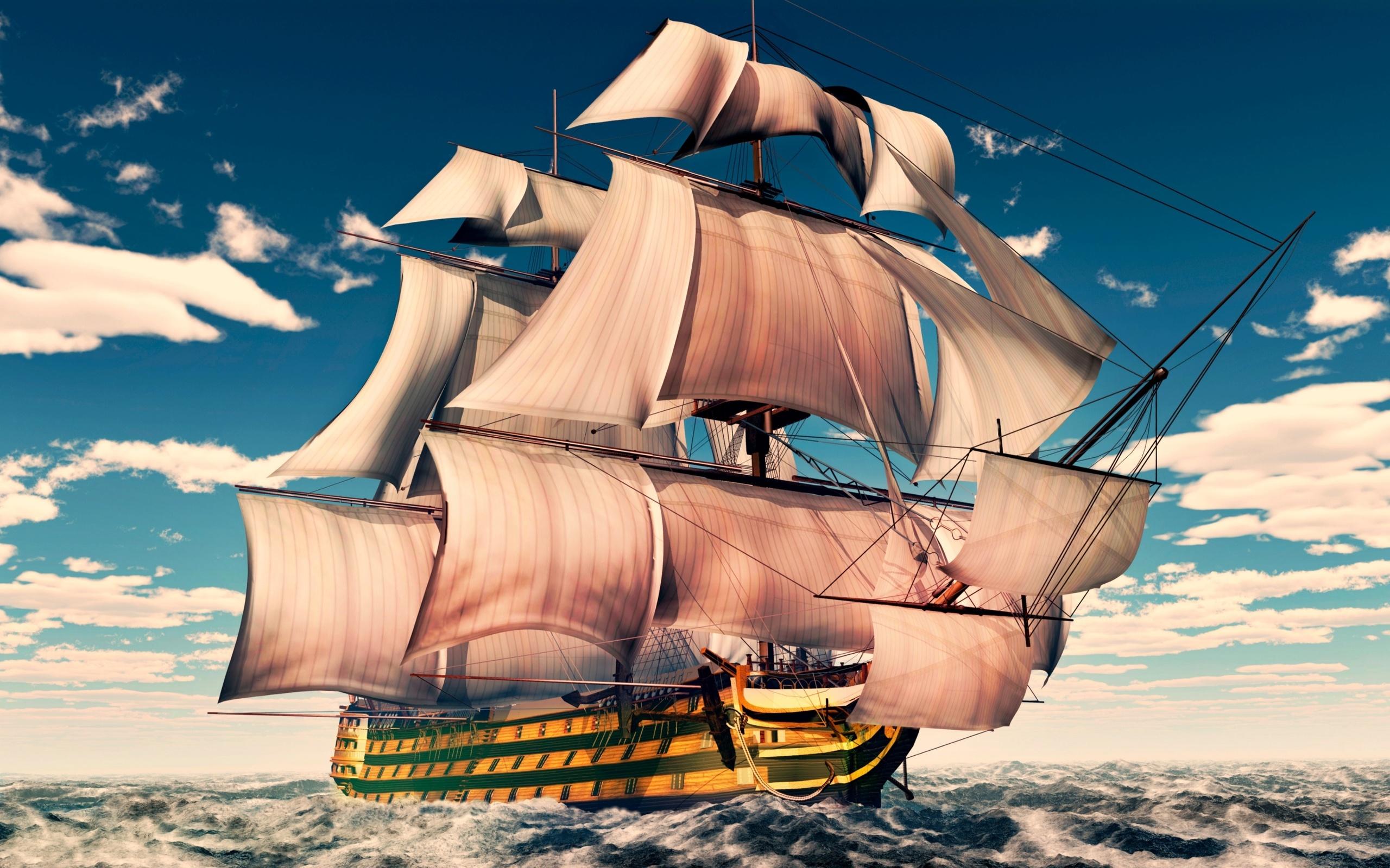 На рабочий стол открытки корабли