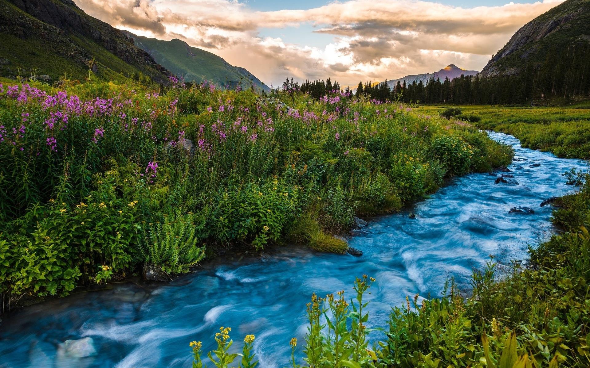 Горы с рекой картинки