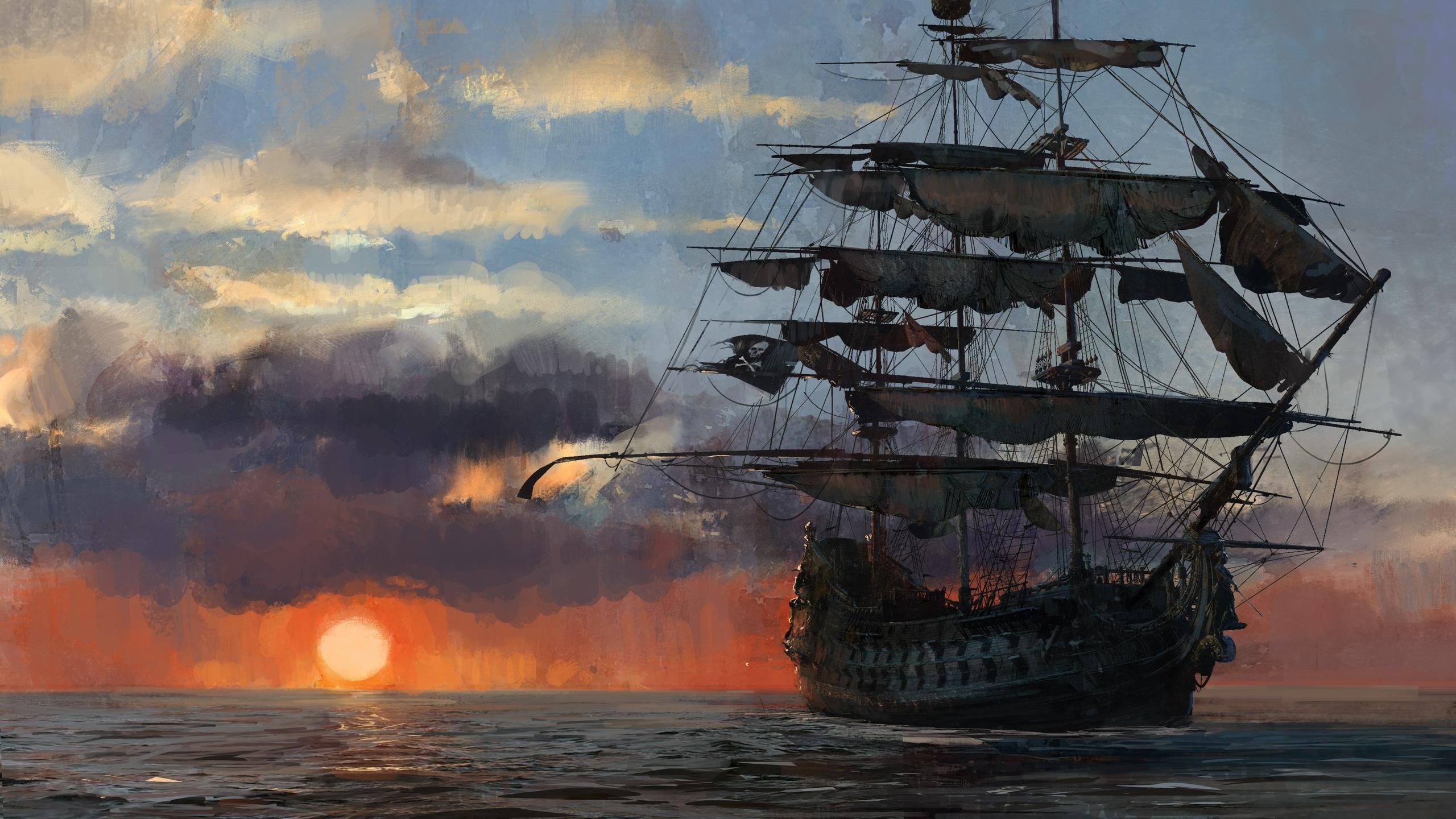 Картинки пиратских кораблей, руками