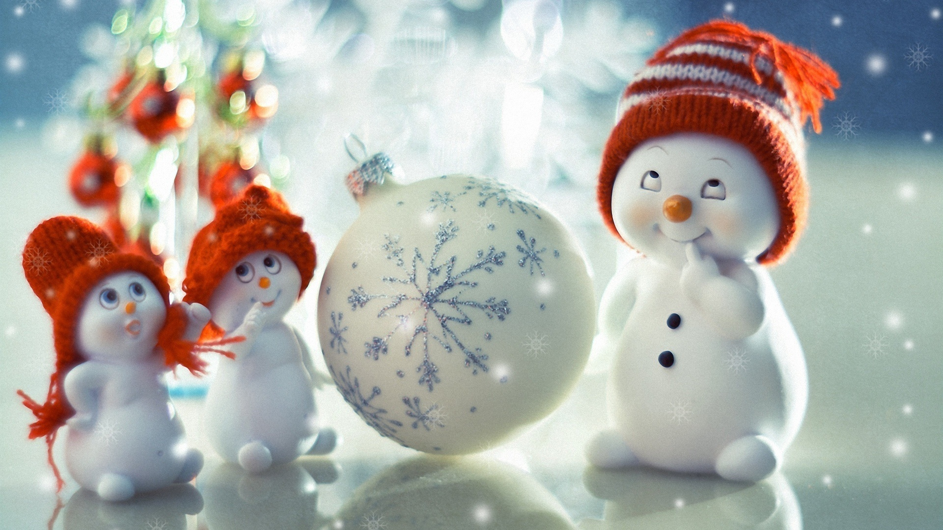 Новогодние картинки про снеговиков