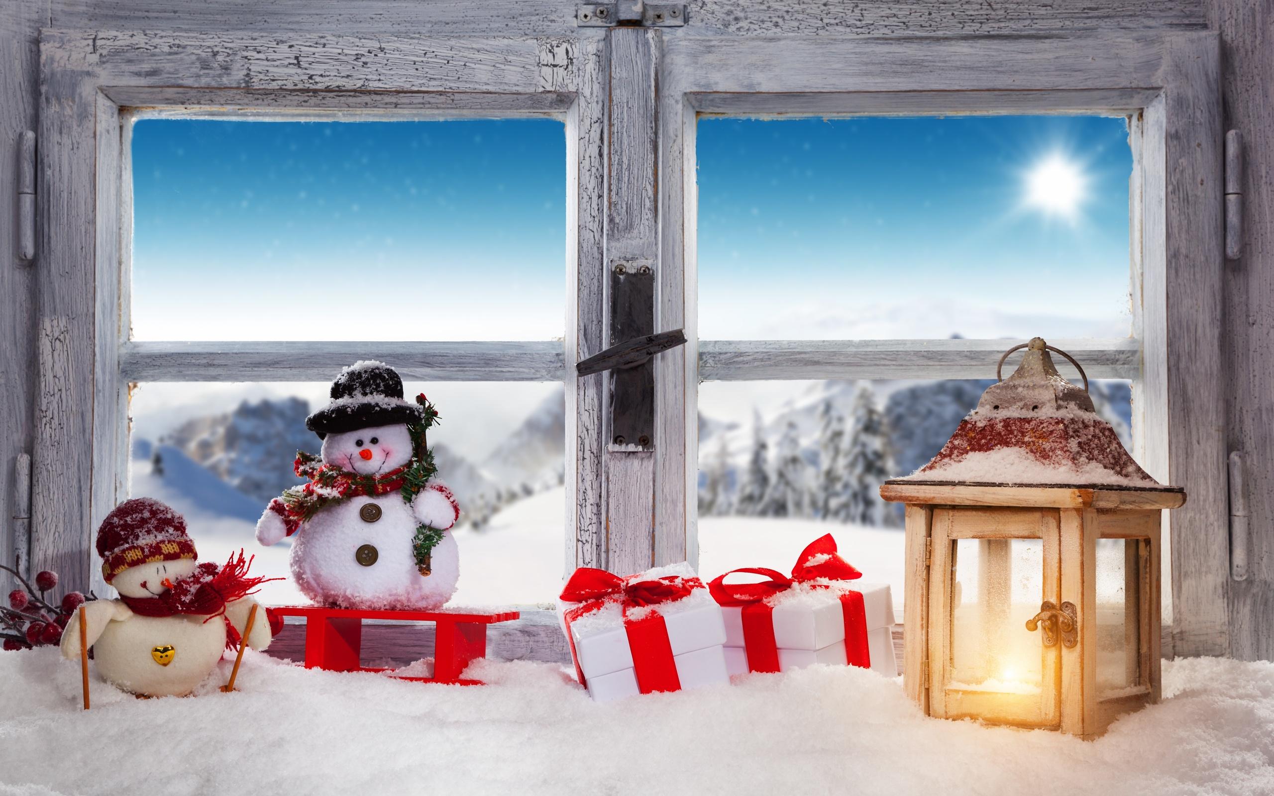 Папе день, картинка новогоднее окно