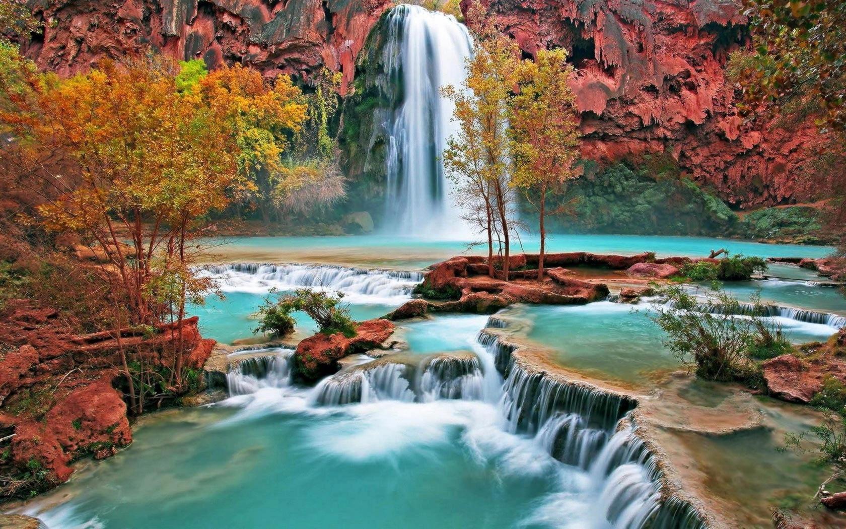 Яркие картинки водопад