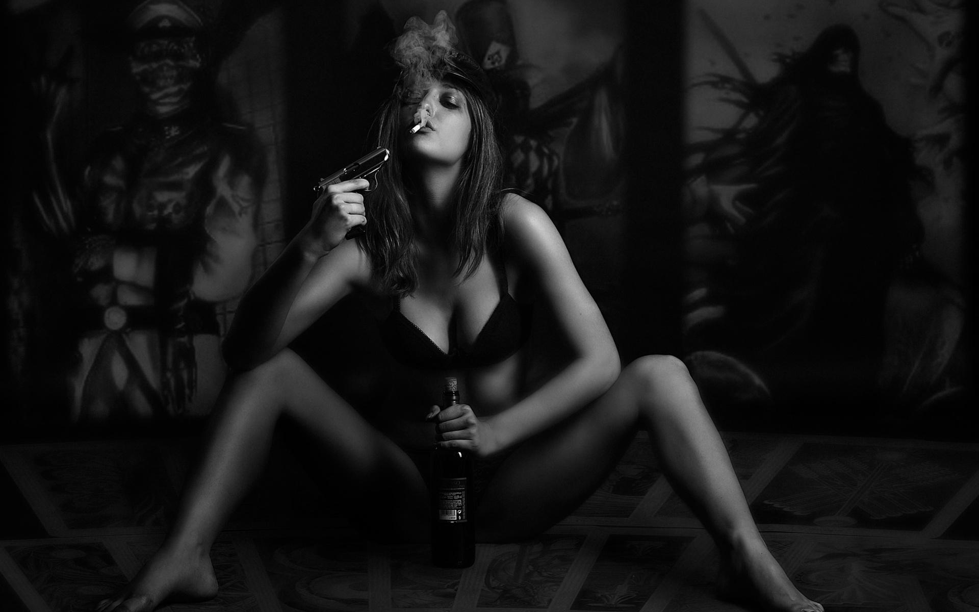 Картинки на телефон девушки с сигаретой