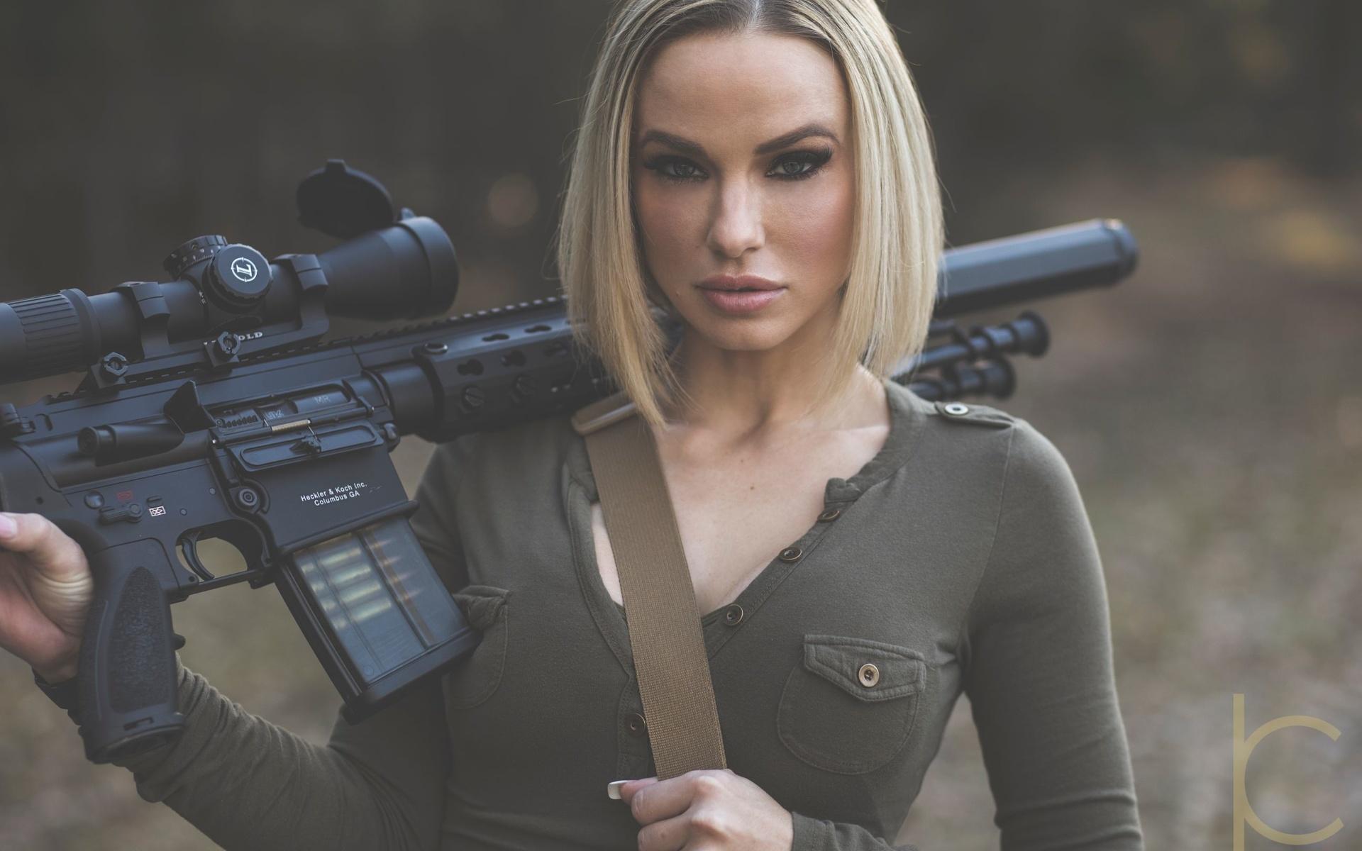 Картинке девушек с оружием