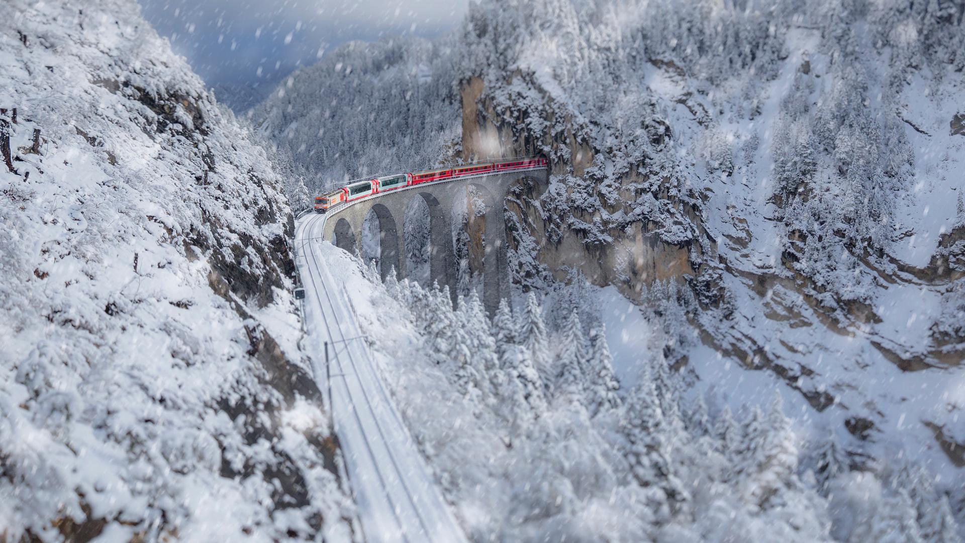 моменты чертов мост альпы фотографии зимы натуральным или экомехом
