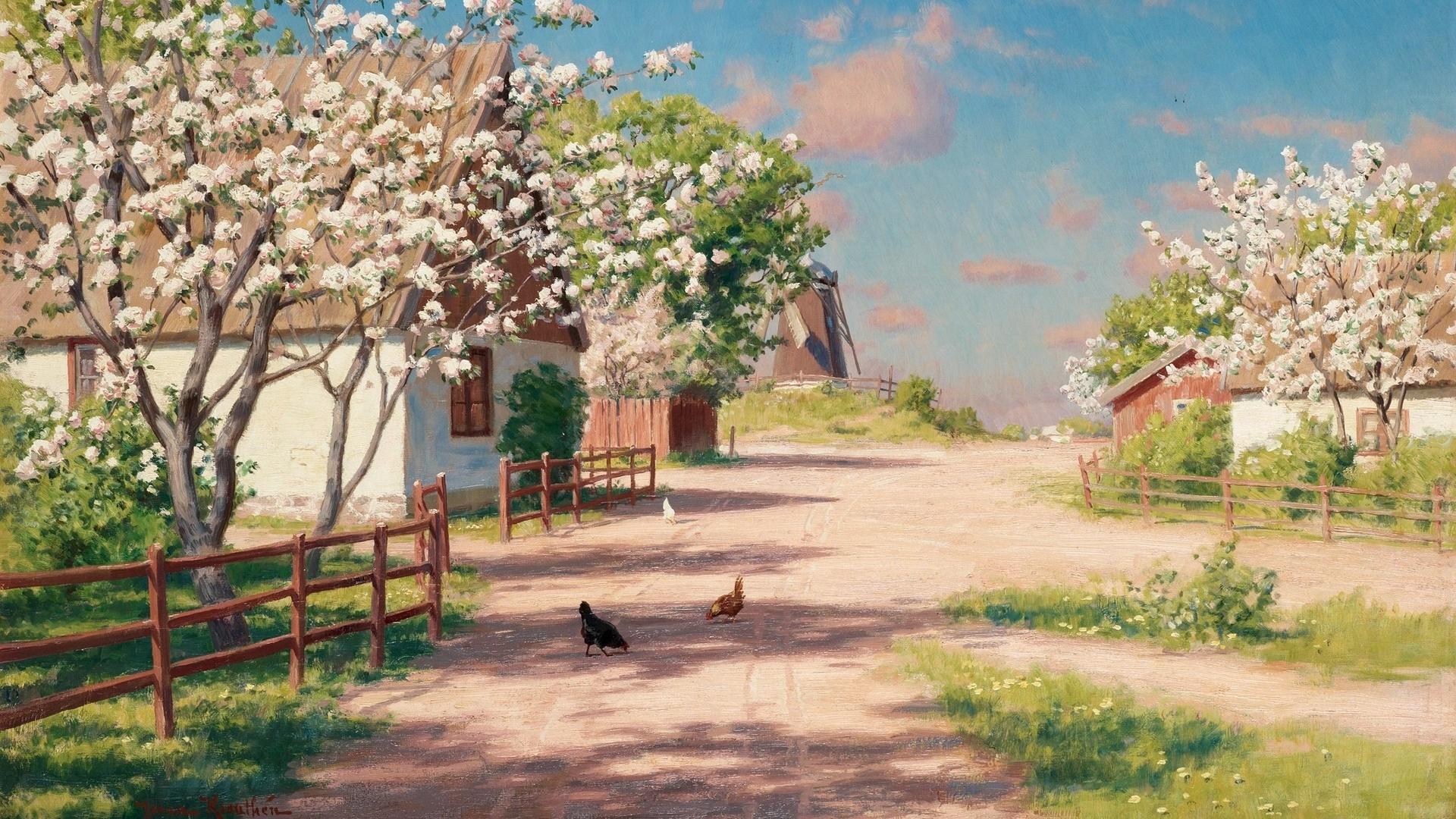 собой, картинки живопись и лето туда