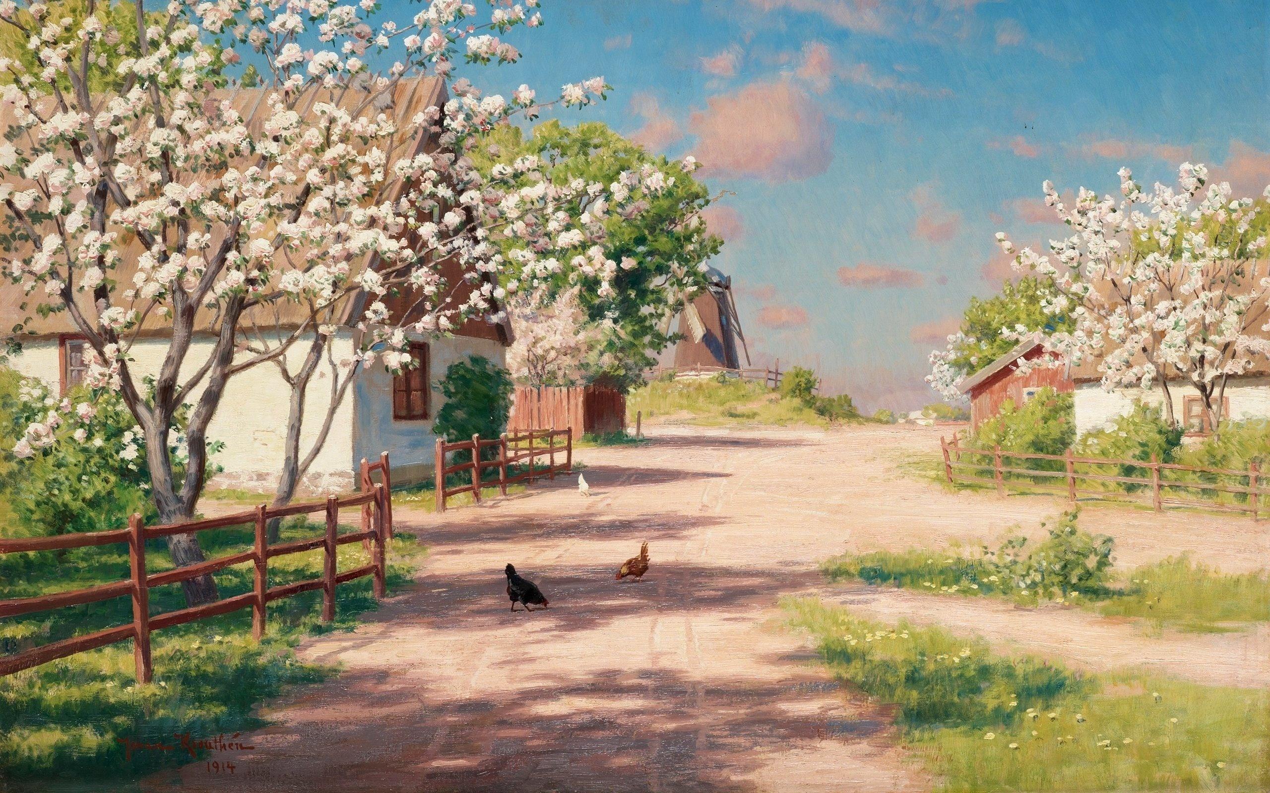 Картинки деревенские пейзажи