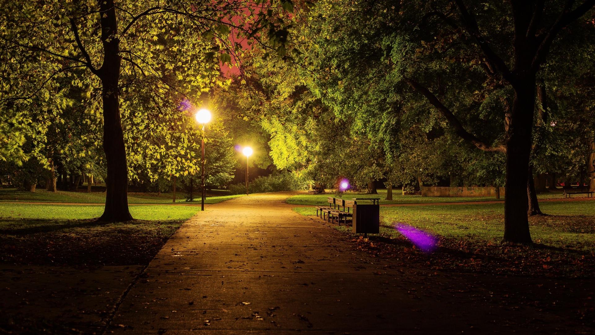 День ангела, картинки красивая ночь в парке