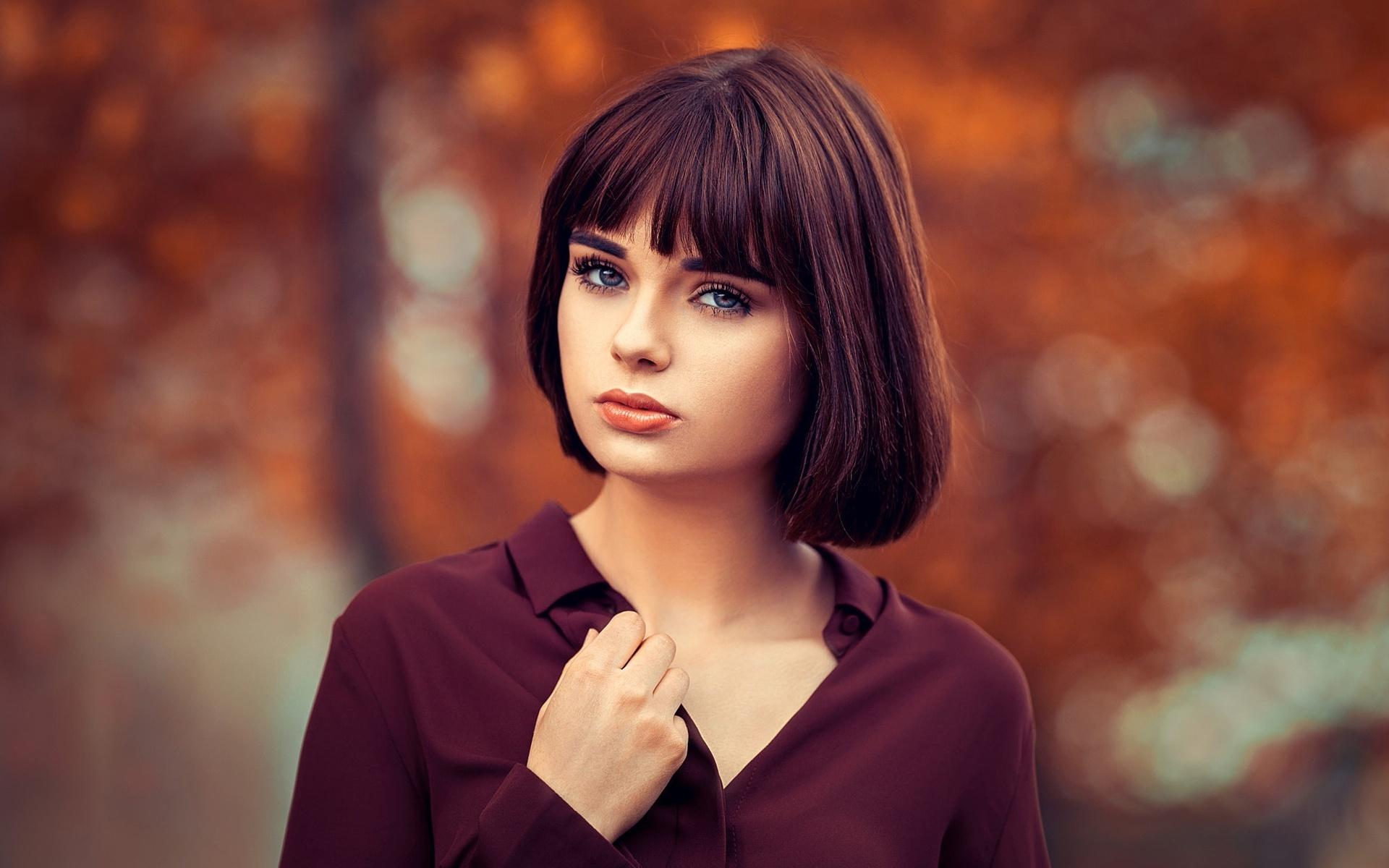 Картинки фото девушка с челкой