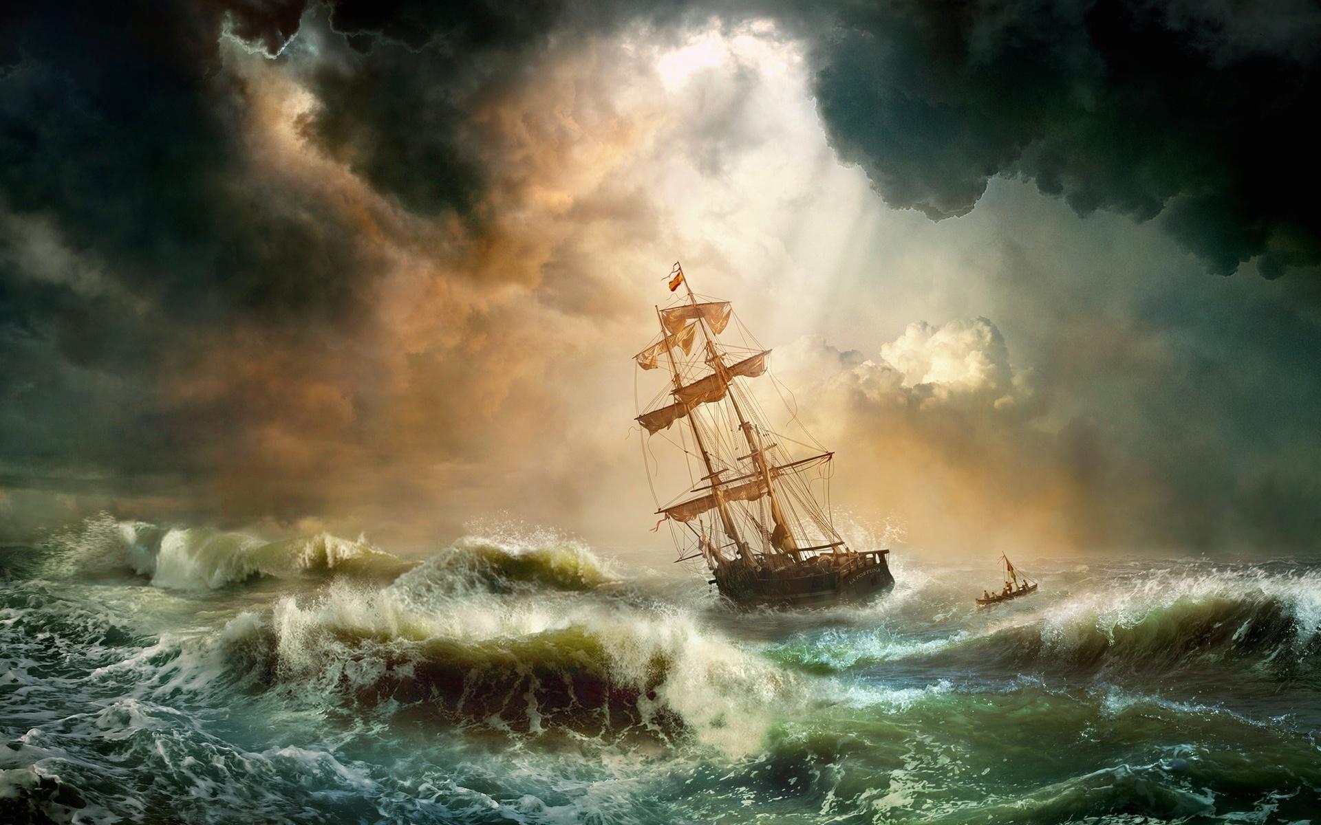 форме картинка парусник во время шторма гане популярны причудливые