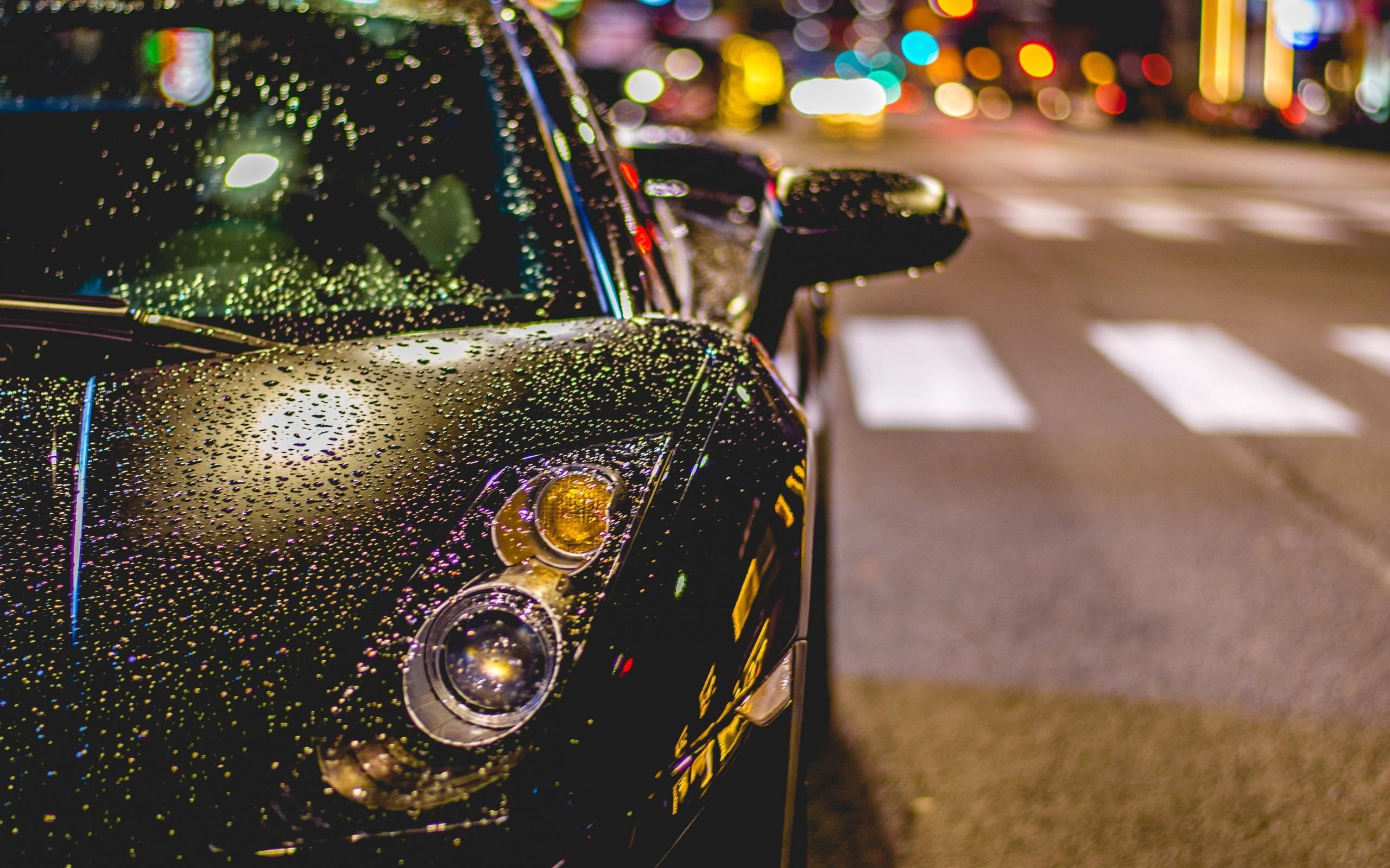 Картинки машины под дождем