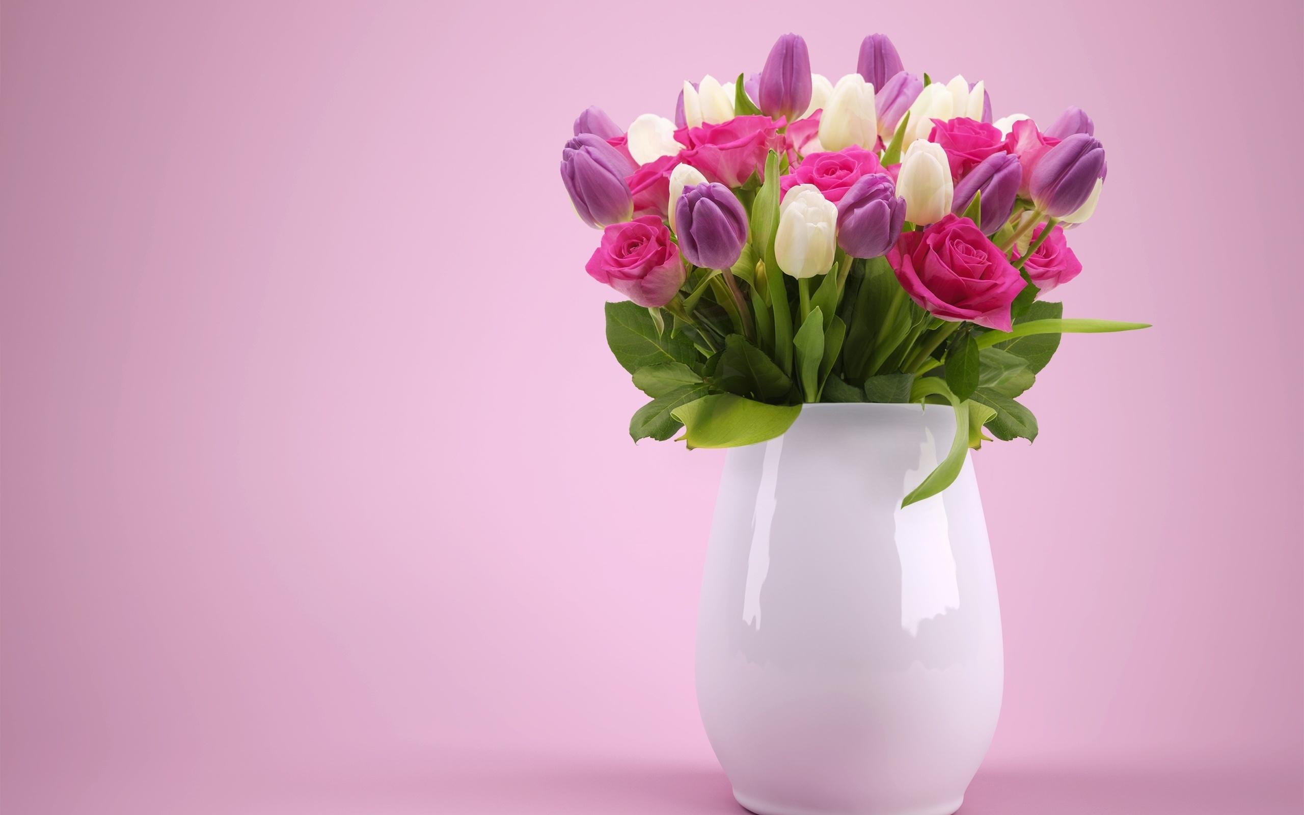 Картинка букет цветов в вазе