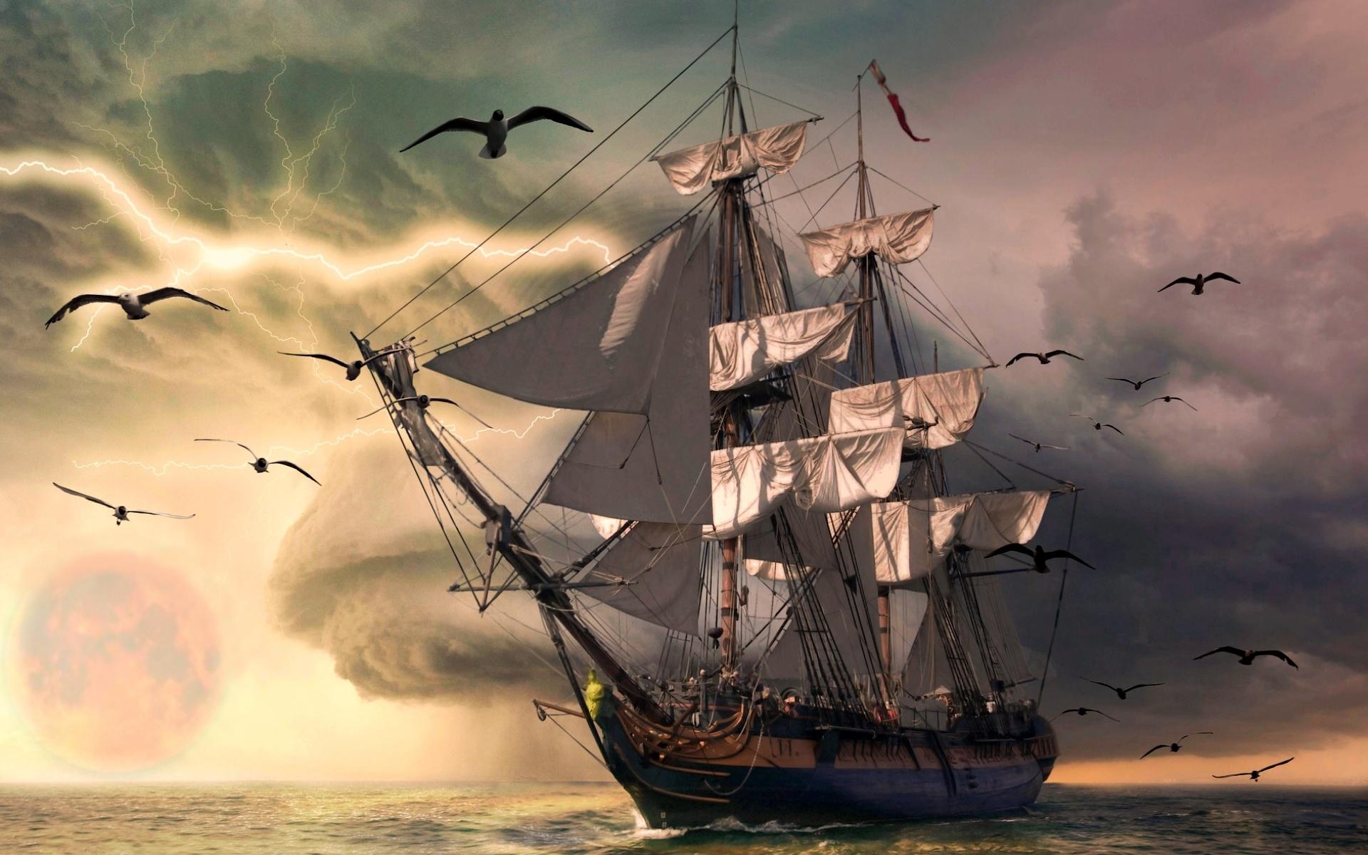 картинка корабль на телефон обои его