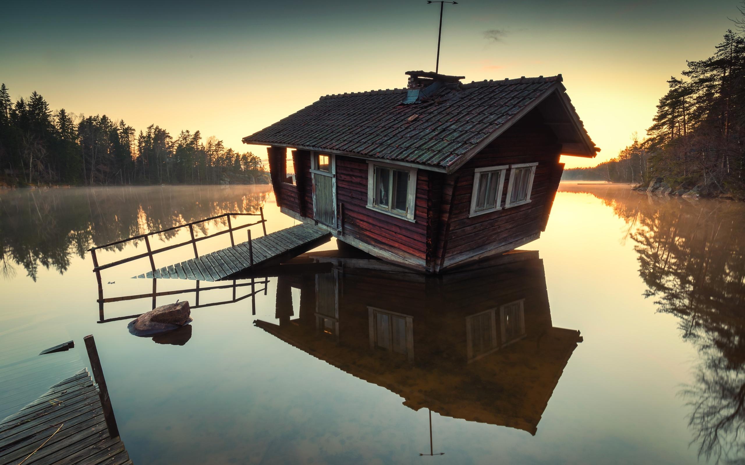 Картинки дача у озера