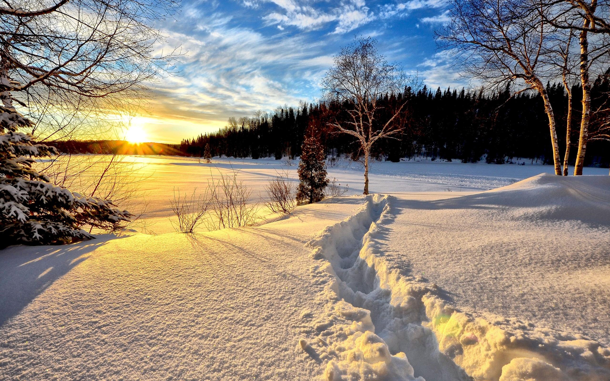 между красивые картинки солнца и снега можно смело