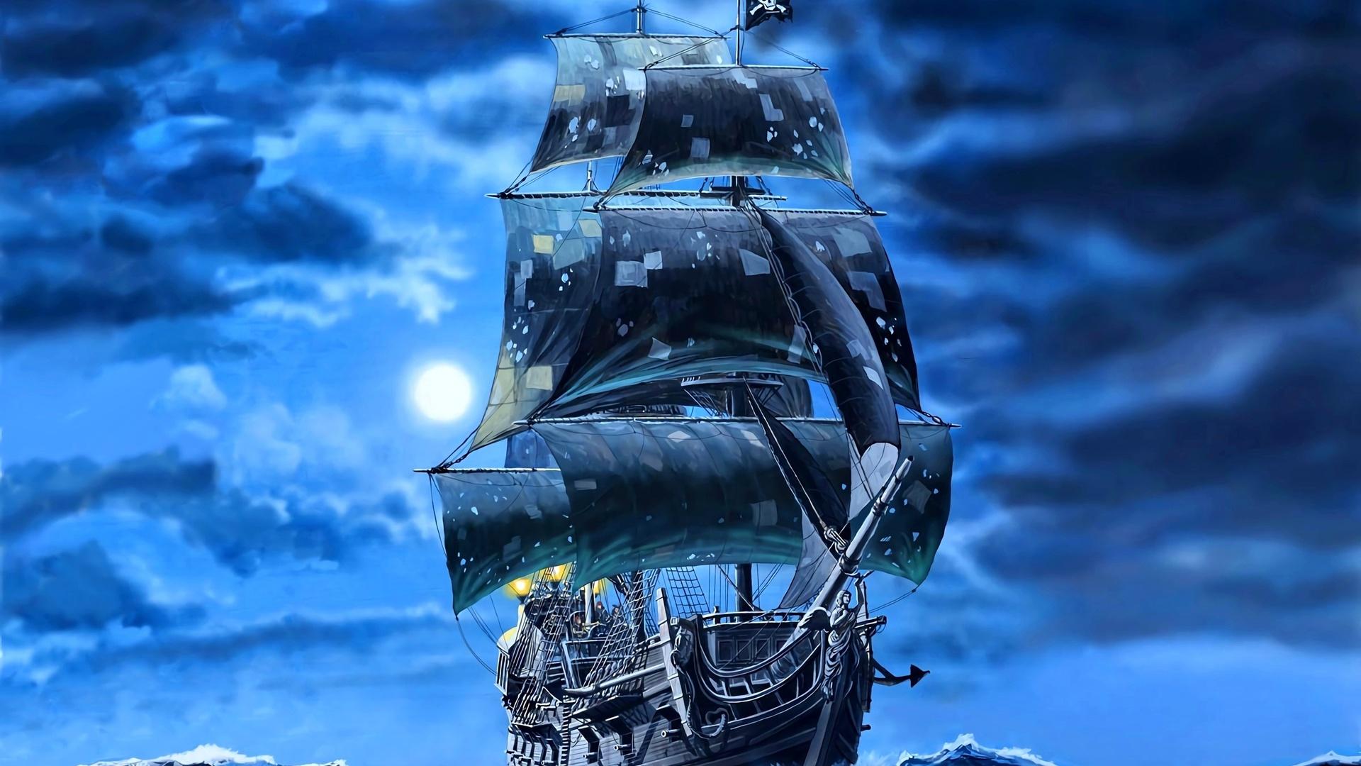 Корабль пират море картинки