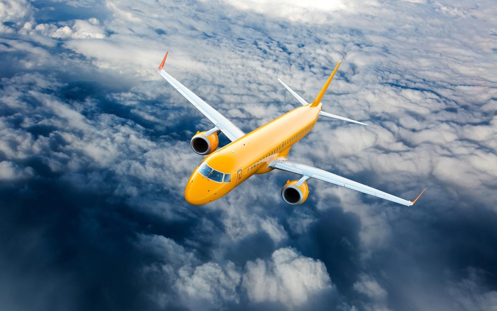 Летающий самолет картинка