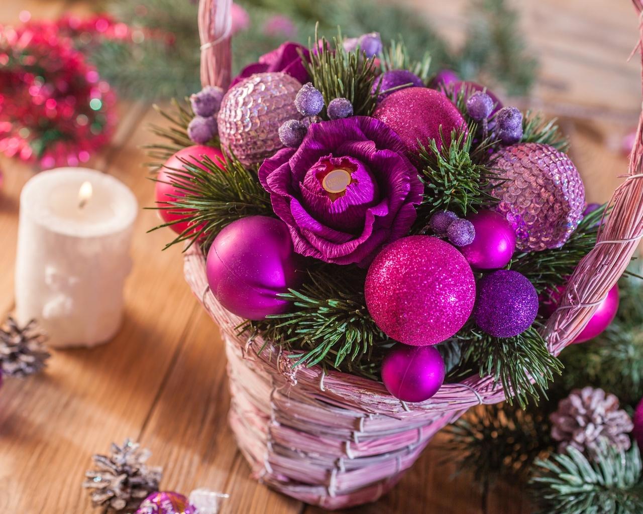 Картинки с новогодними цветами
