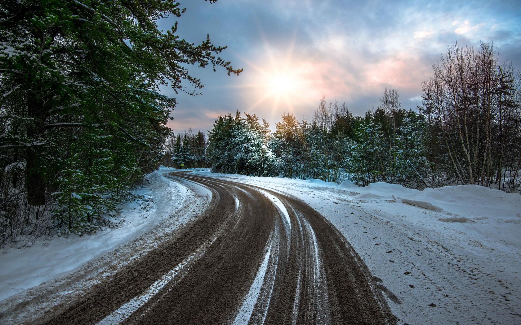 снег на дороге картинки считал людей своей