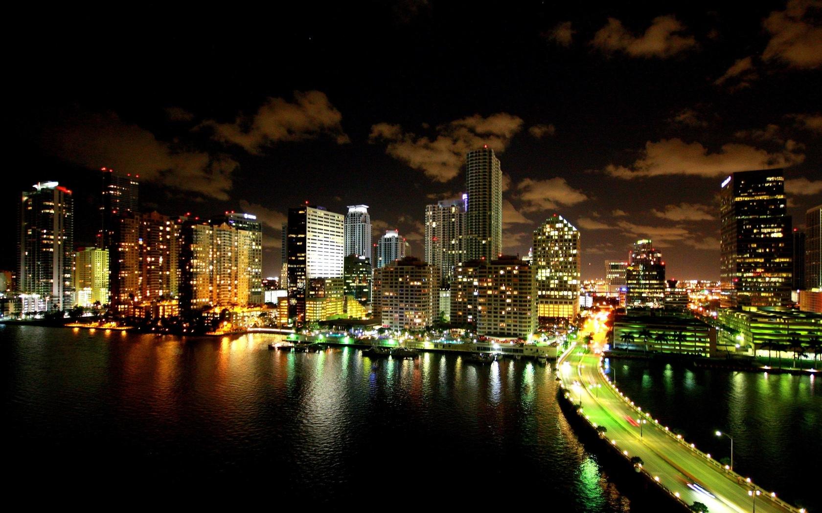 Большие картинки для рабочего стола ночной город