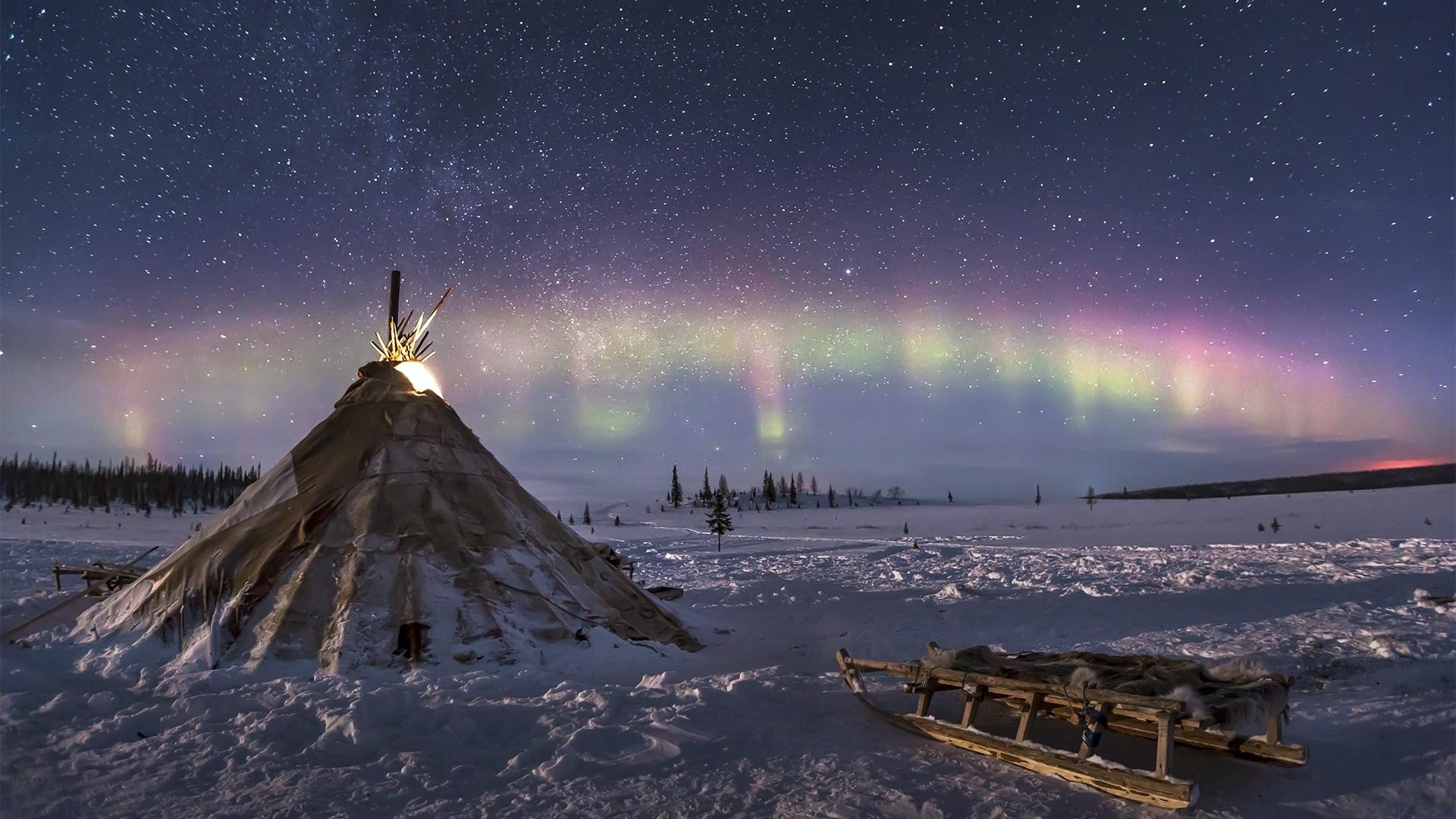 небо крайнего севера фото ночью предоставляем весь