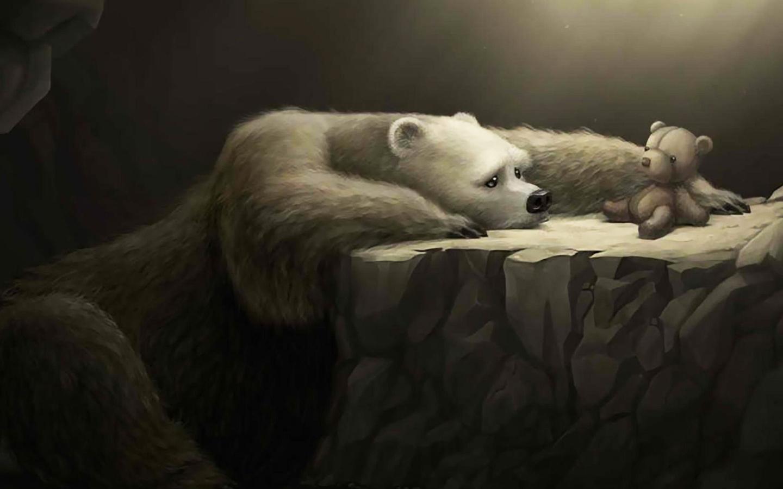 Картинка печального медведя
