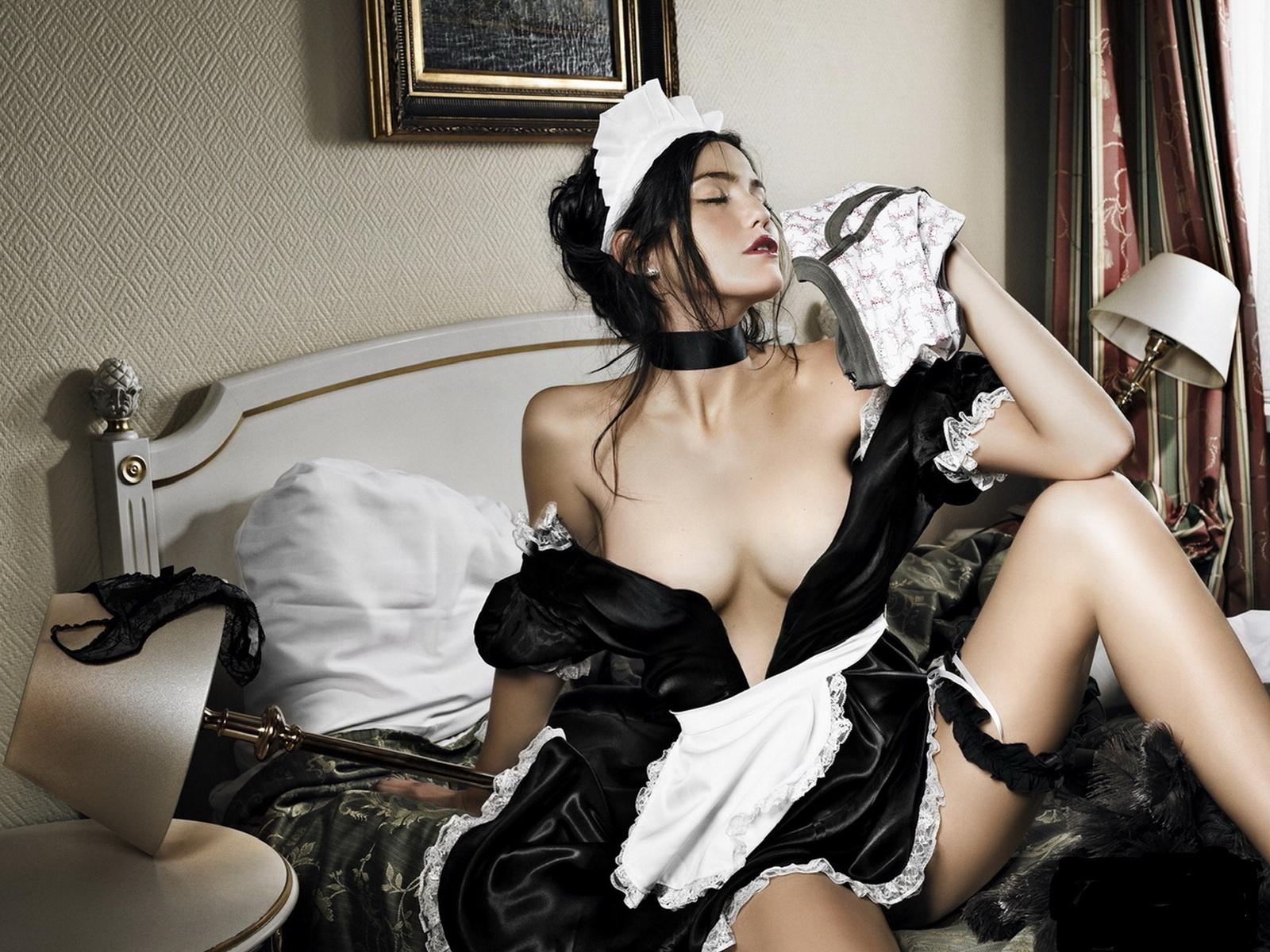 Sexy maid nude hints