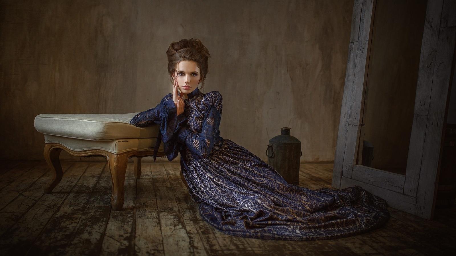 эко фотосессия в старинных платьях москва множество