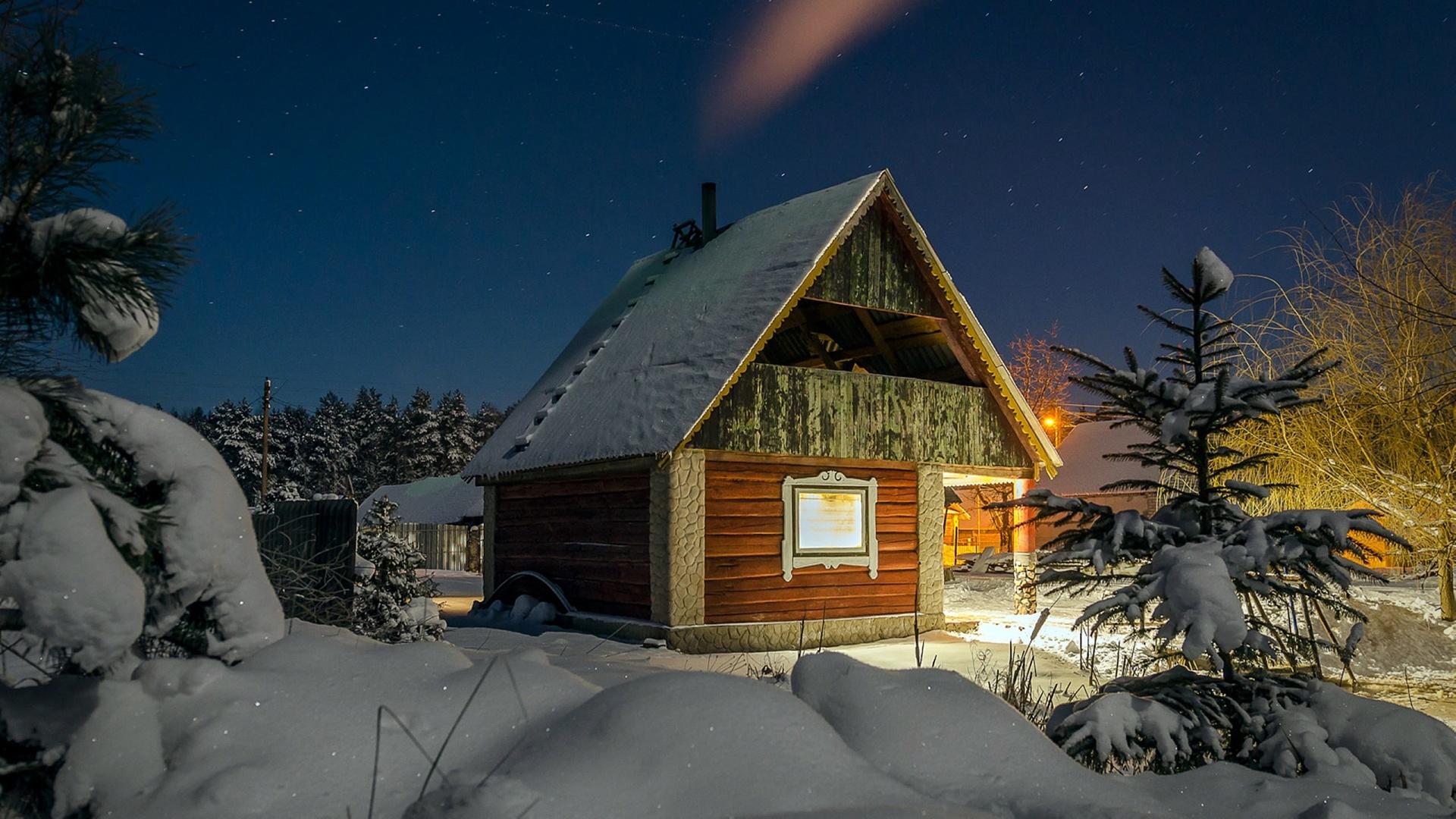 случай зимний дом фото картинки ёжики ёжики