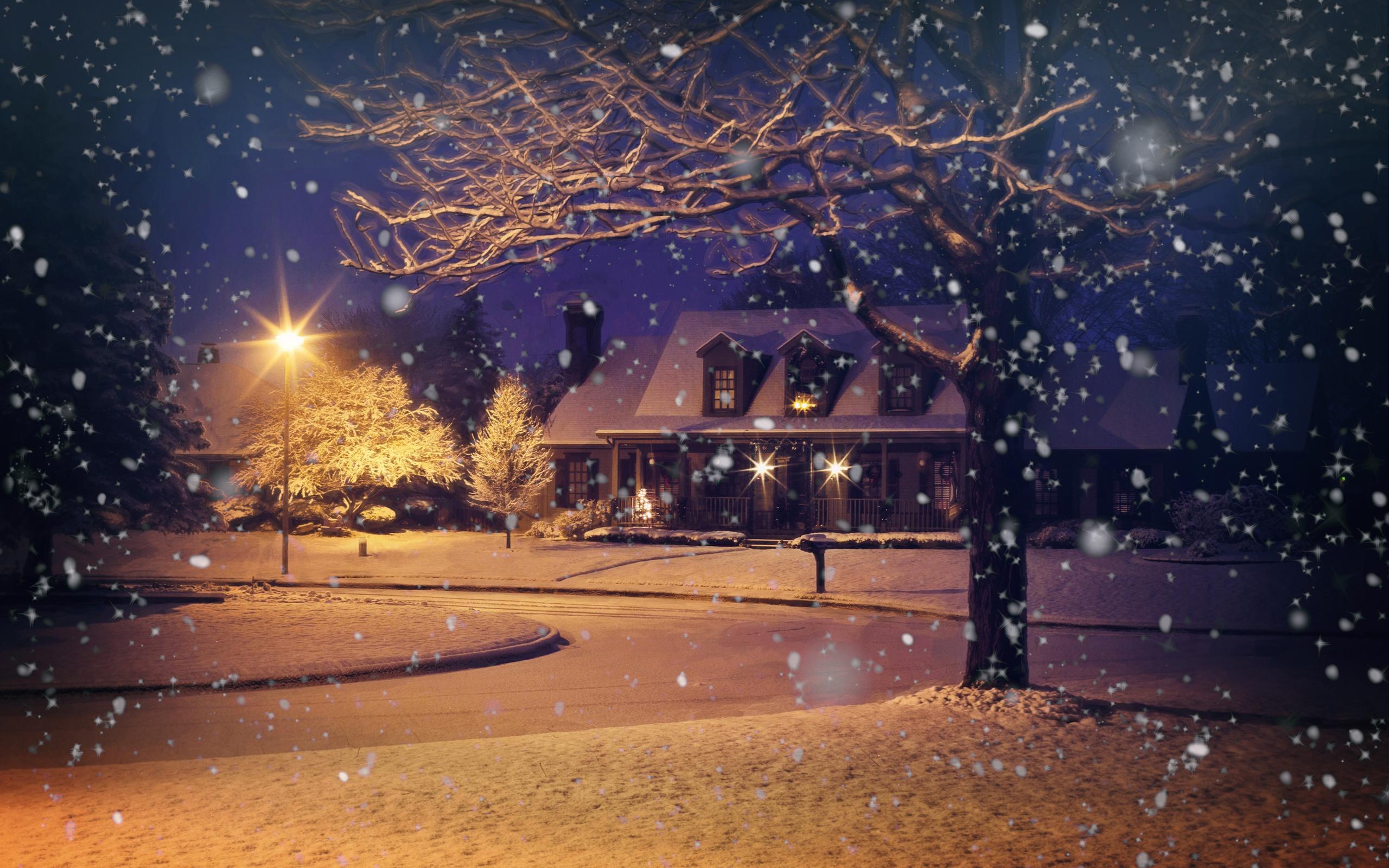 Картинки с снегопадом
