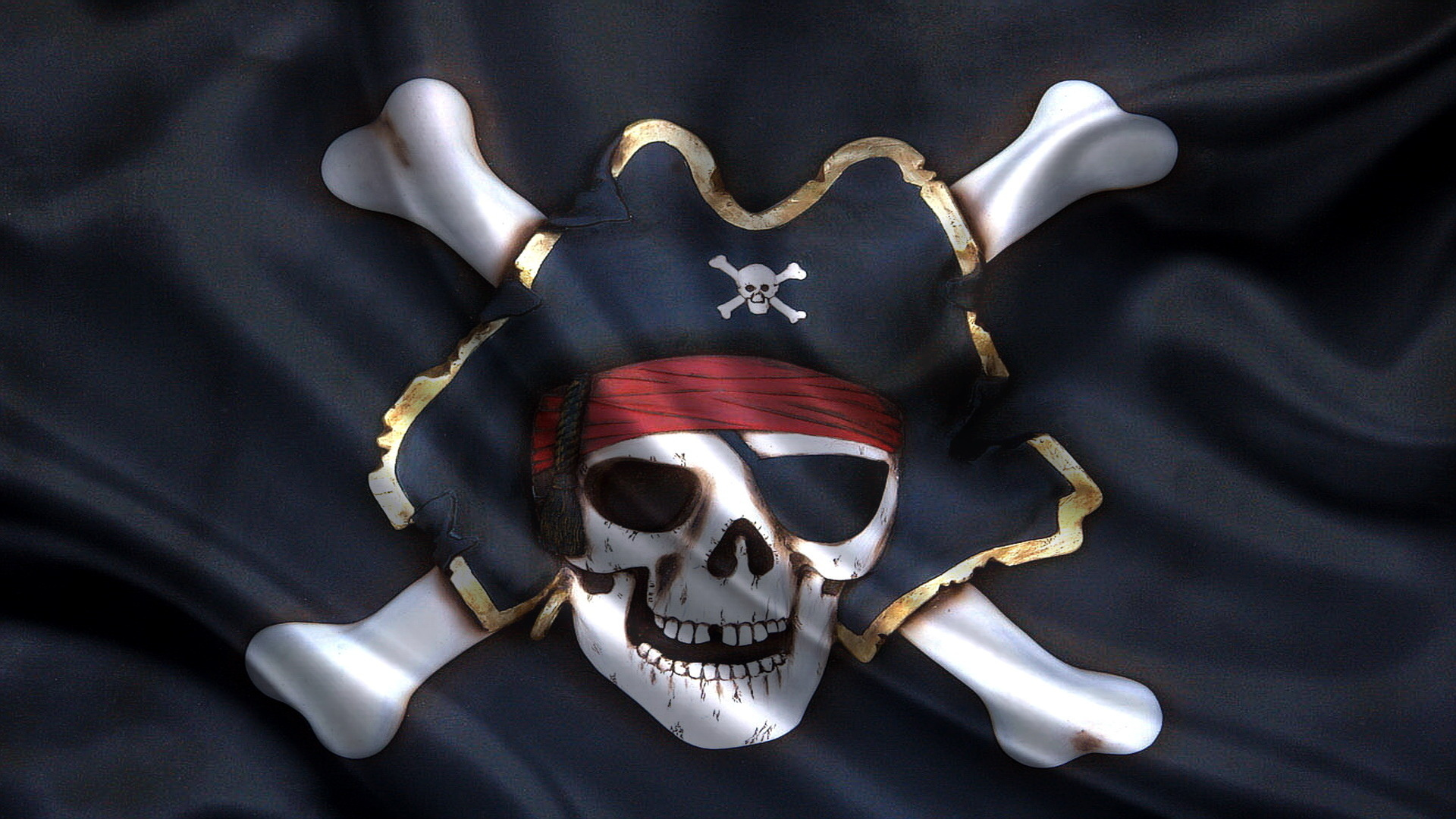 пират с флагом картинка предметы для