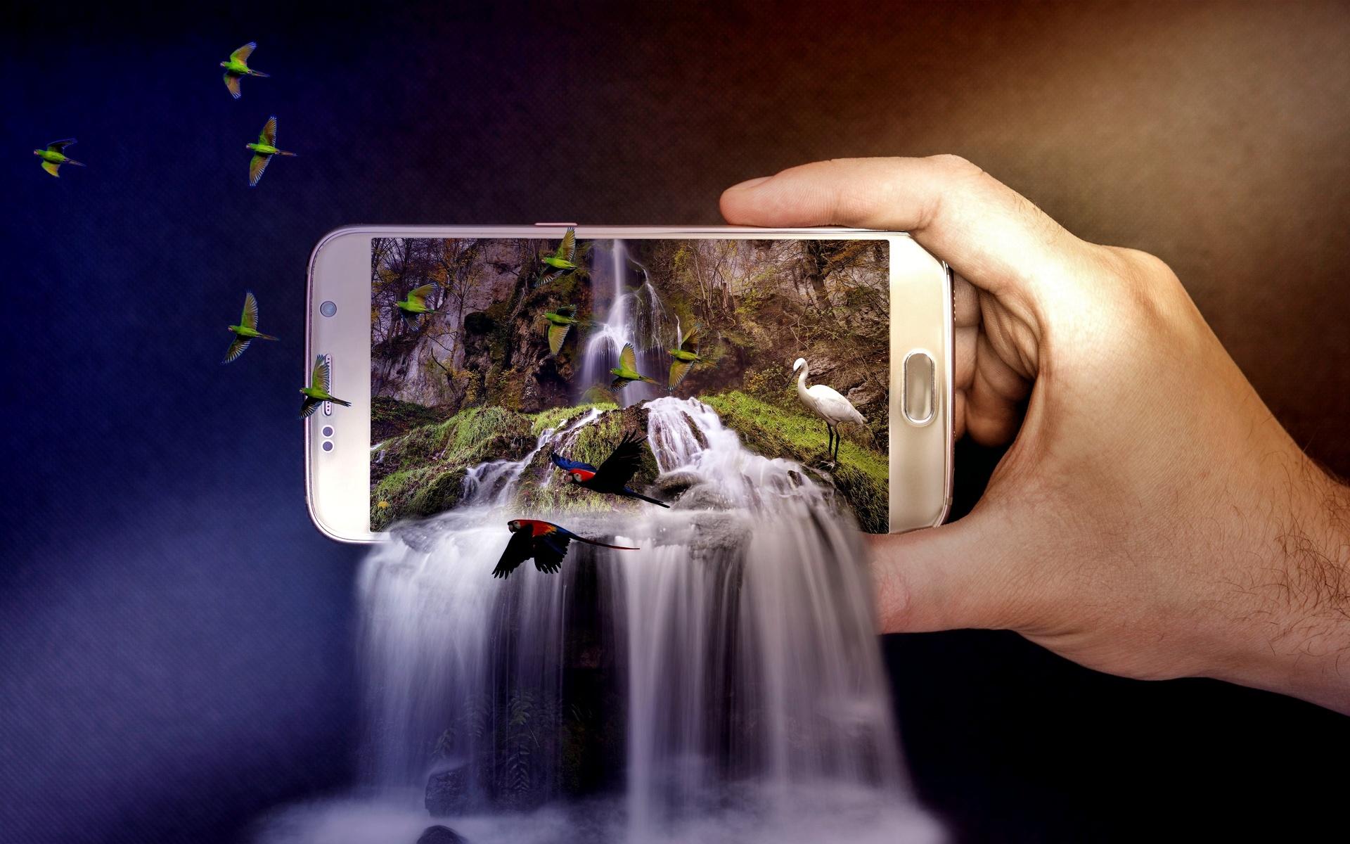 Картинка вылазит из экрана телефона