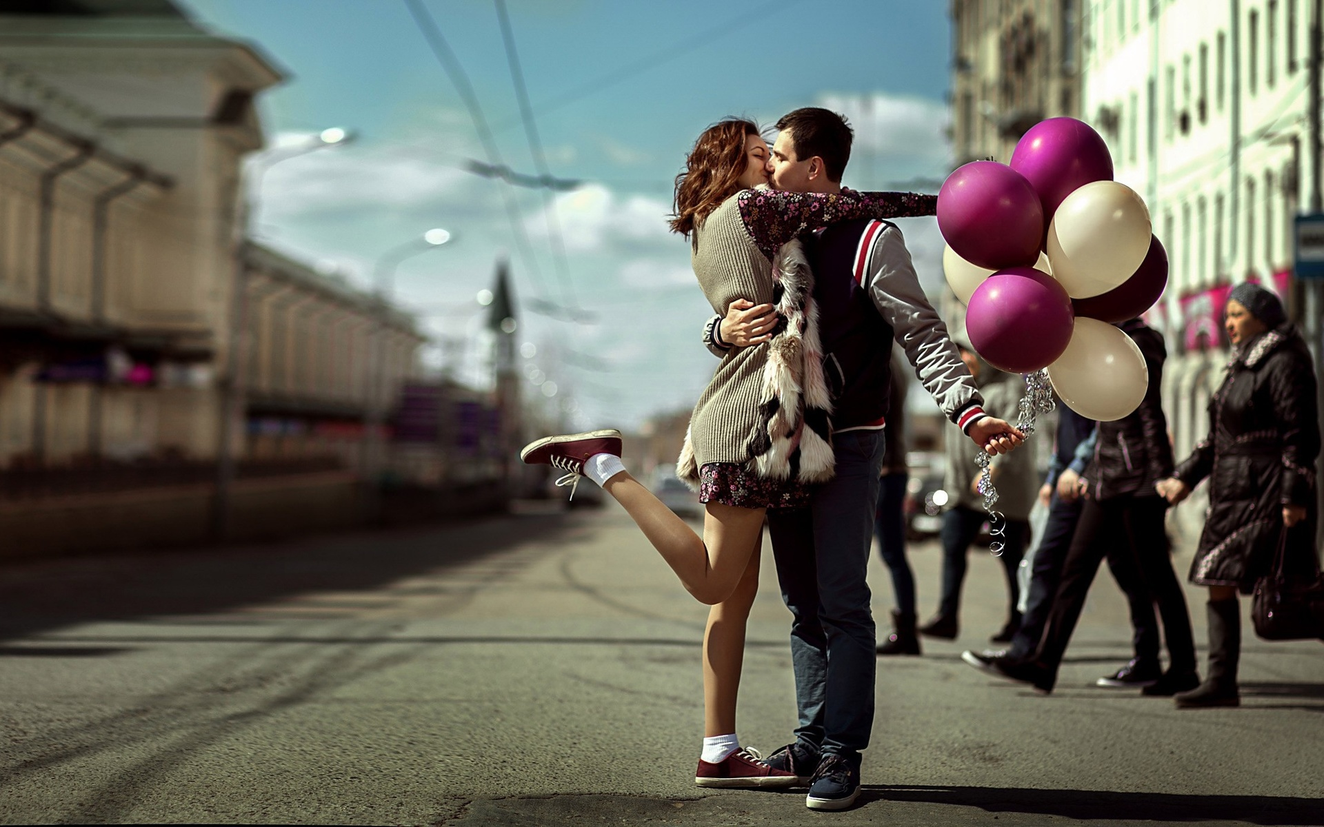 Картинки пар в городе