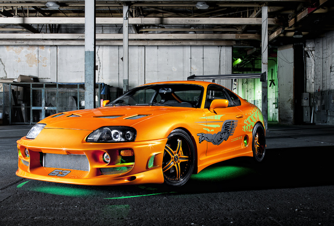 тюнинг, форсаж, tuning, Toyota, fast and the furious, supra, ораньжевый