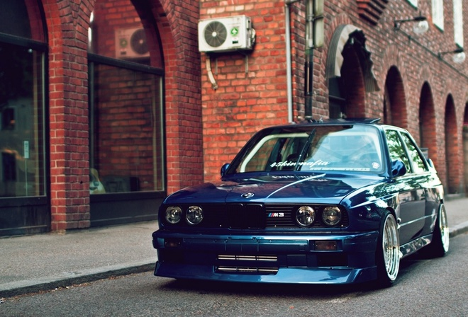 automobile, beautiful, wallpapers, e30, stance, bmw, blue, m3, car