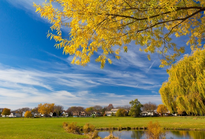 Фото деревня осень