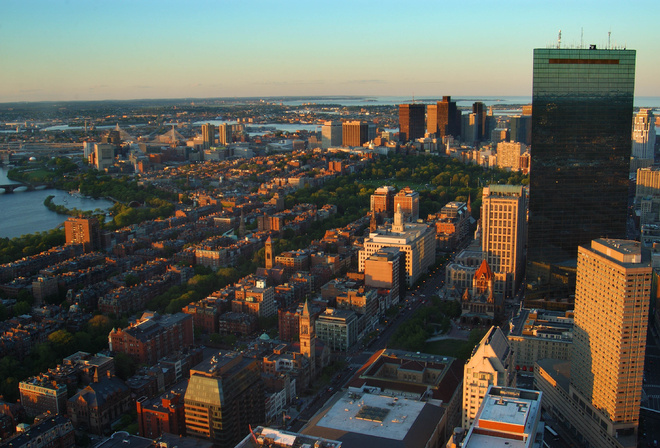 city, Usa, massachusetts, город, boston