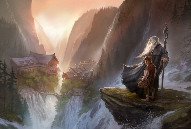 an unexpected journey, гэндальф, rivendell, Арт, the hobbit, хоббит, gandalf
