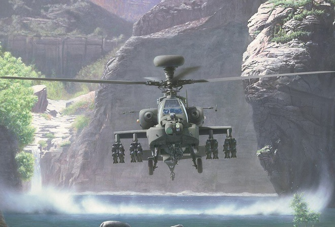 apache, helicopter