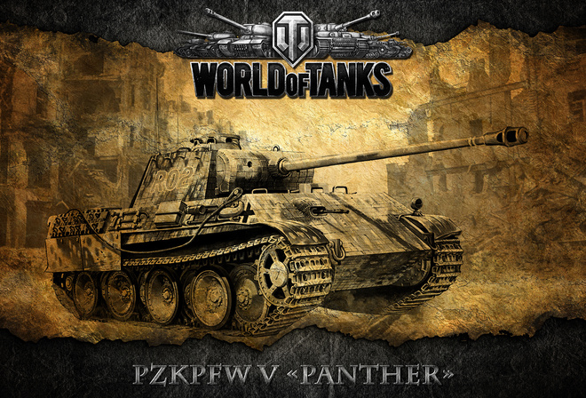 wot, немецкий, танк, World of tanks, pzkpfw v panther, мир танков