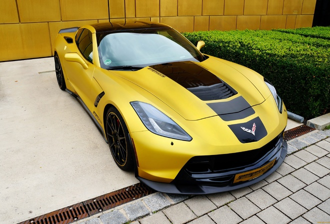 chevrolet corvette c7 stingray, geigercars, автомобили, corvette, тюнинг, stingray, chevrolet, желтый